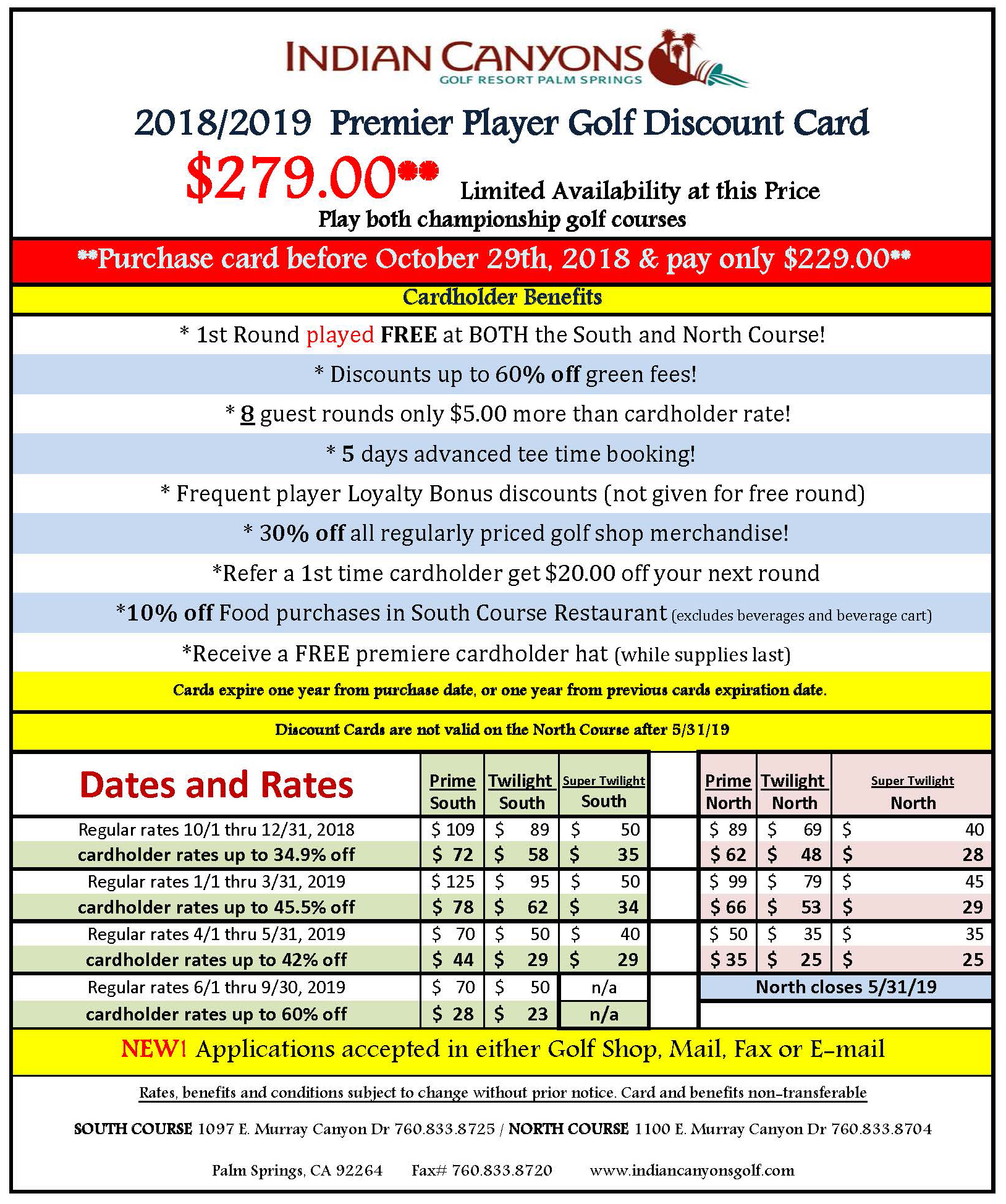 Premier Player Golf Discount Card
